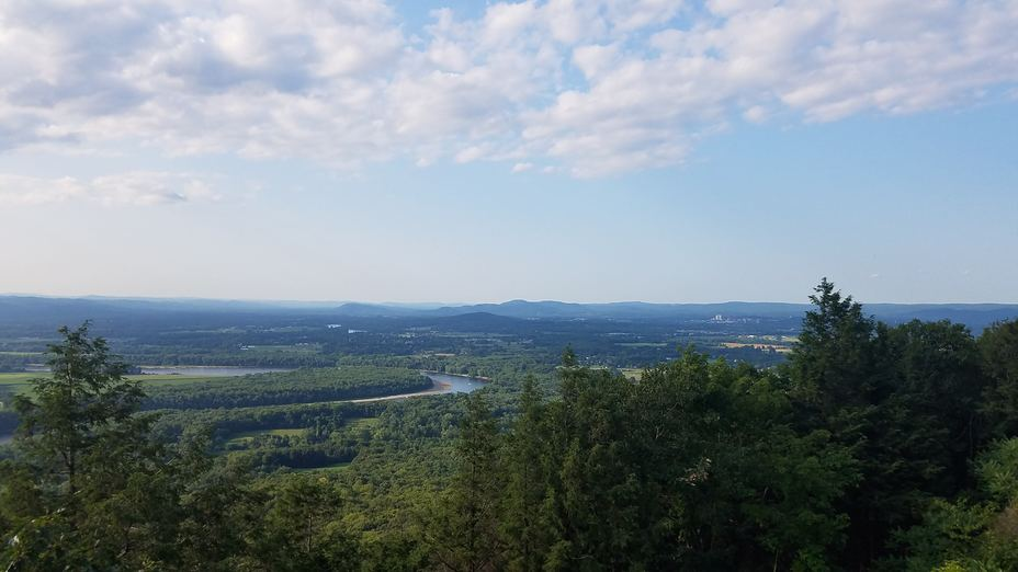 View from the summit house, Mount Holyoke