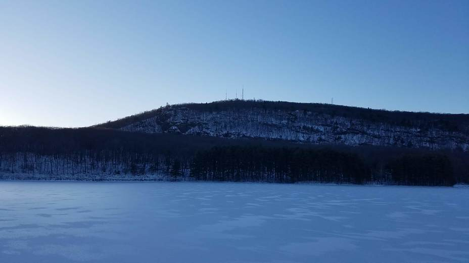 Mt Tom in winter twilight, Mount Tom (Massachusetts)