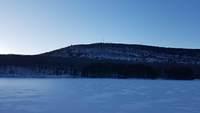 Mt Tom in winter twilight, Mount Tom (Massachusetts) photo