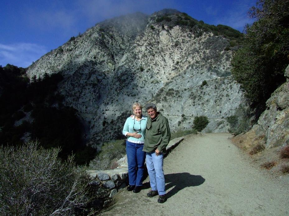 San Gabriel Peak, 6162 ft. Barbara and Mike