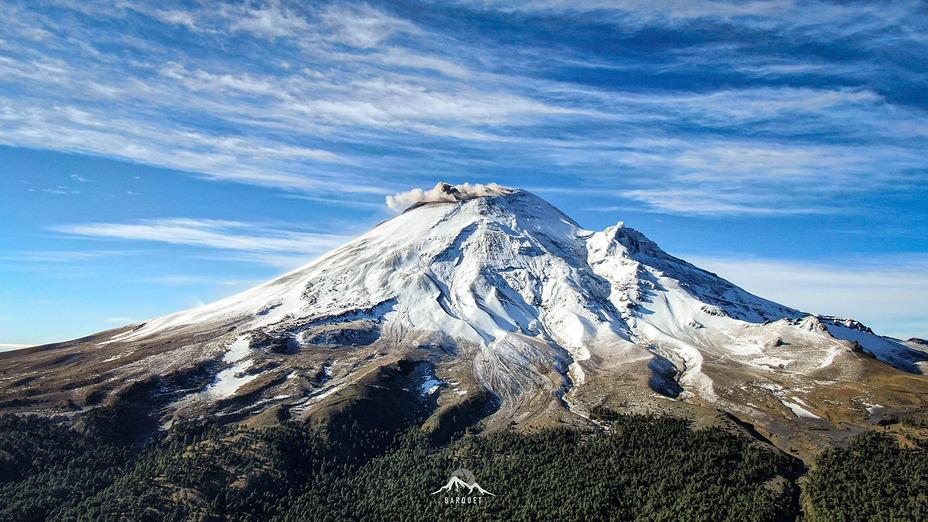 Popocatepetl after a snow storm