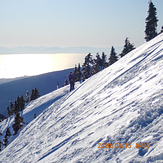 View west from winter route on Mt Seymour, Mount Seymour