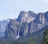 Cathedral Rocks and Bridalveil Fall, Middle Cathedral Rock photo