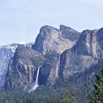 Cathedral Rocks and Bridalveil Fall, Middle Cathedral Rock