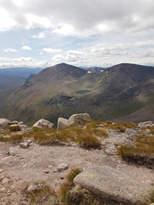 Cairn Toul and Sgor an Lochain Uiane from Braeriach  photo