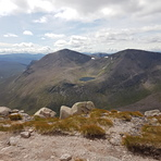 Cairn Toul and Sgor an Lochain Uiane from Braeriach