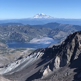 View of Rainier from South Rim, Mount Saint Helens