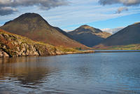 Great Gable across Wast Water photo