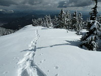 Summit ridge on mount Crickmer photo