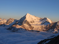 Weisshorn view from Domhutte photo