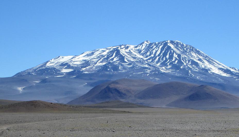 Bonete seen from the Southwest, Cerro Bonete