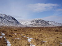 Craignaw and the Dungeon Hill in winter photo