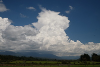 Cumulonimbus Cloud over the Quartz Range. Spring storms for Perry Saddle and the Heaphy track., Perry Saddle (Heaphy Track) photo