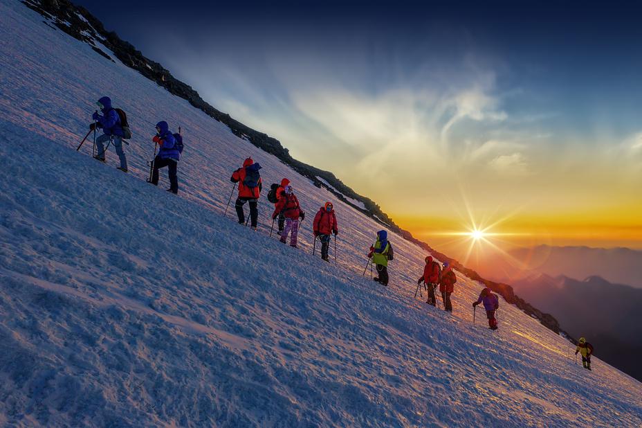 Warming Sunrise, Mount Elbrus