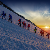 Warming Sunrise, Mount Elbrus