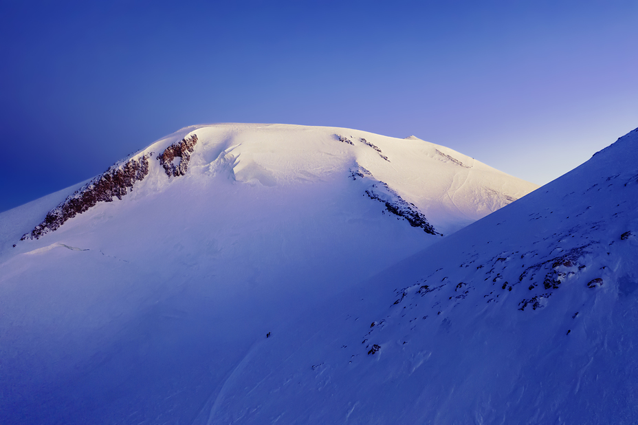 Elbrus in rays of sunrise, Mount Elbrus