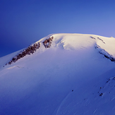 Elbrus in rays of sunrise, Mount Elbrus