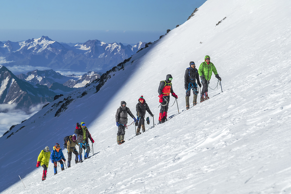 Over saddle, Mount Elbrus
