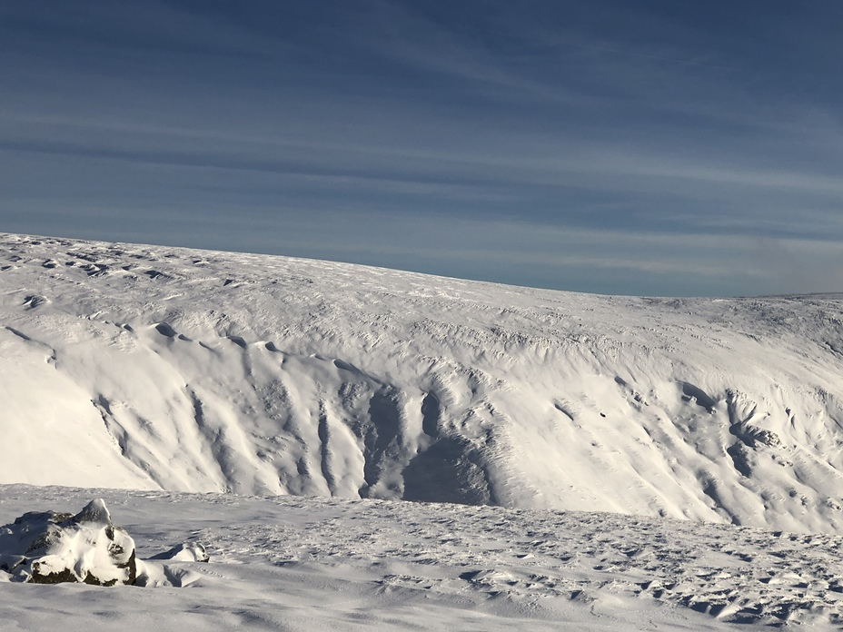 Bizzle Cragg up on to West Hill, The Cheviot