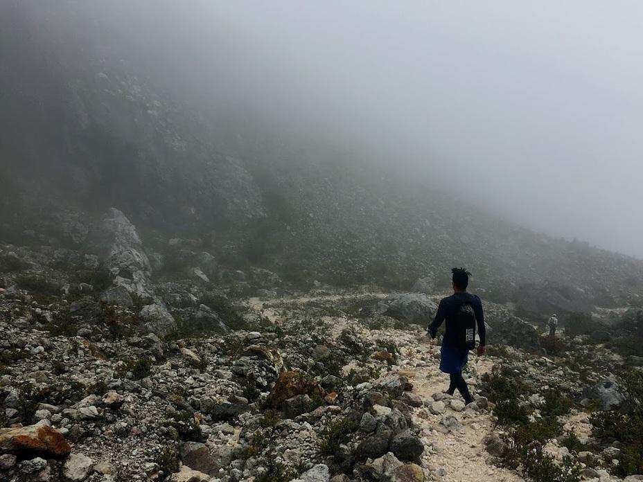 Trail Along Boulders, Mount Apo