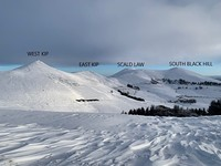 The Pentlands In Winter, Scald Law photo