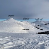 The Pentlands In Winter, Scald Law