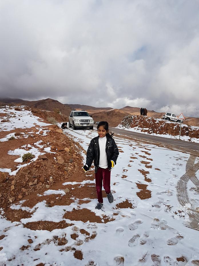 Snow in Saudi Arabia in January 2020, Jabal al-Lawz
