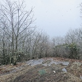 Snow on Springer Mountain, southern terminus of the Appalachian Trail