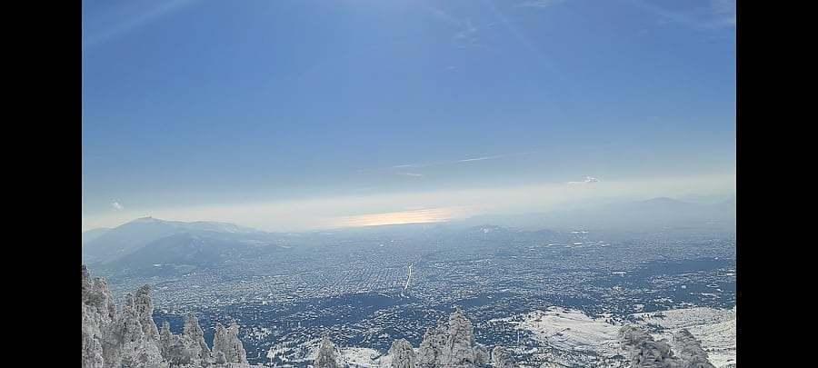Mount Pentelicus summit view, Penteliko Mountain