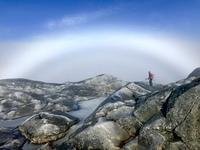 Fog rainbow, Mount Monadnock photo