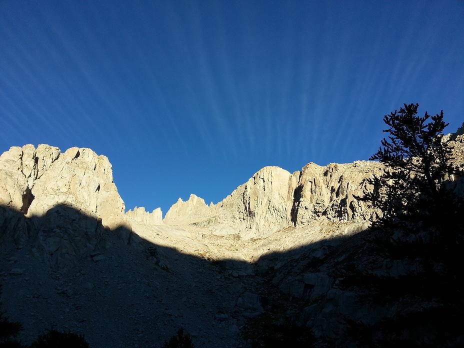 Amazing Sunrise, Looking West!, Mount Whitney
