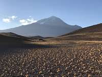 Base Camp view Argentine side, Llullaillaco photo