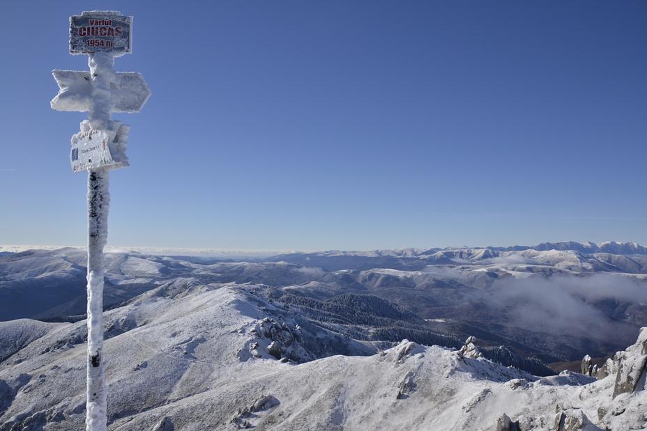 View from Ciucas peak, Ciucaş Peak