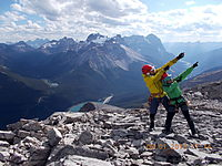 At the summit of Mount Bosworth, Mount Stephen photo