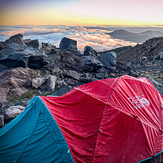 Base Camp, Hotlum Bolam Route, Sept 2019, Mount Shasta