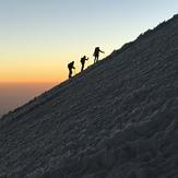 Amanecer de camino a la cumbre., Pico de Orizaba