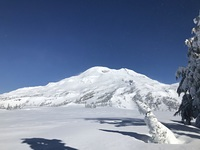 Windy day, South Sister Volcano photo