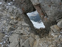 The window just before the true summit, Grotto Mountain photo