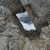 The window just before the true summit, Grotto Mountain