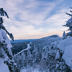 Long Trail on Mount Mansfield, March 2021