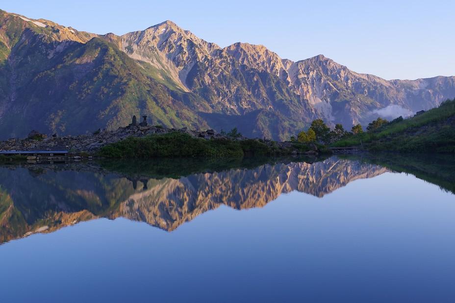 水鏡の八方池, Happo One and Karamatsu Dake