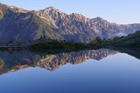 水鏡の八方池, Happo One and Karamatsu Dake photo