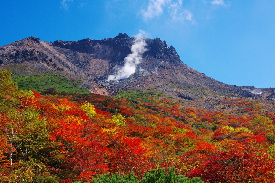 紅葉の那須岳(姥ケ平), Nasu