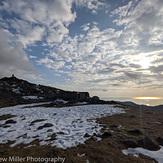 Snow on the top of Cadir Idris, Cadair Idris