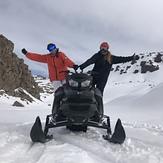 Antonia en moto de nieve, Laguna Del Maule