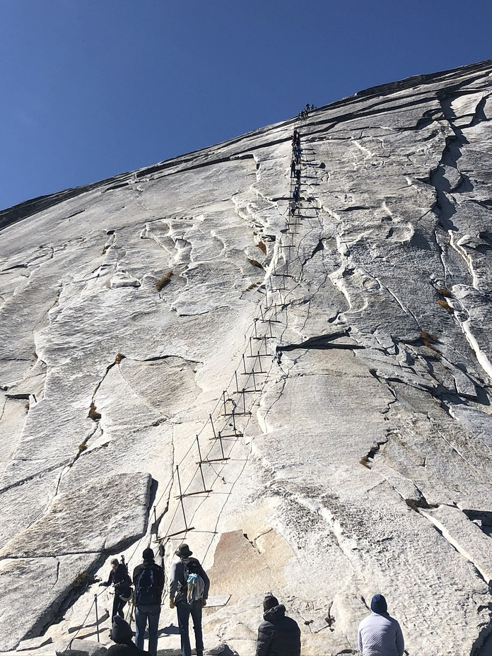 Cables looking up, Half Dome