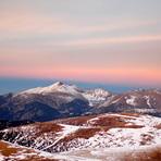 Le massif du Canigou au coucher de soleil depuis l'Ouest