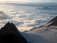 Sunrise at the summit of Vignemale photo