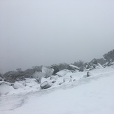 Durwil (Mt William) summit in a snowstorm #2, Mount William