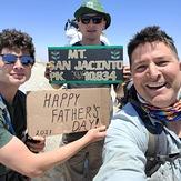 James Alvernaz & son's Jared and Gino, Mount San Jacinto Peak